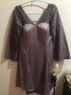 Mini dress purple press body