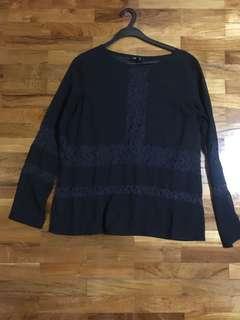 🚚 Black Long sleeve blouse