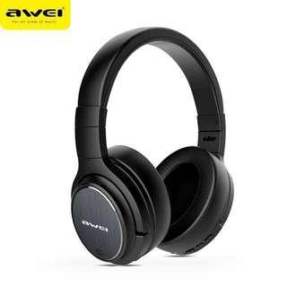 🚚 AWEI A950BL ANC Bluetooth Wireless Headphones with Mic