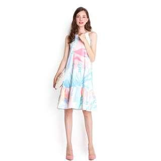 Lilypirates Rainbow Ponies Dress in Pastel Prints