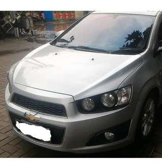 Chevrolet Aveo LT 2013 A/T Silver Tahun Produksi 2012