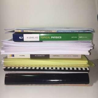 RI RJC A LEVEL notes and tutorials / prelim papers (physics chem math econs GP)
