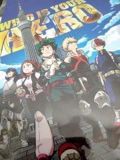 My Hero Academia Boku no Hero Academia Official anime file Tokyo Sky Tree  edition Midoriya Izuku Bakugo Katsuki Todoroki Shoto Uraraka Ochako Iida Tenya All Might Who is your HERO