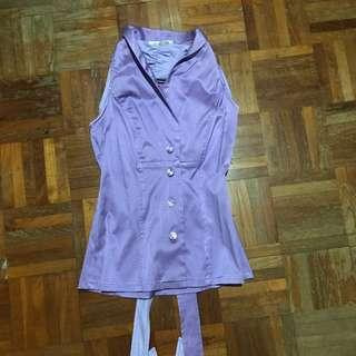 🚚 Lilac sleeveless formal blouse