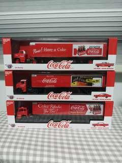 M2 Machines Coca-Cola Auto-Haulers 1:64 Scale Diecast (Complete set of 3)