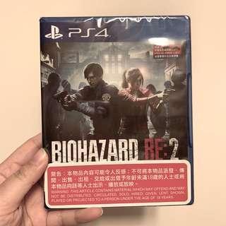 全新 PS4 Biohazard Re:2