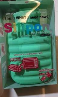 Silipon hot water bottle