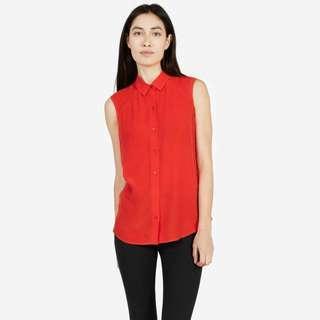 Everlane Silk Sleeveless Shirt