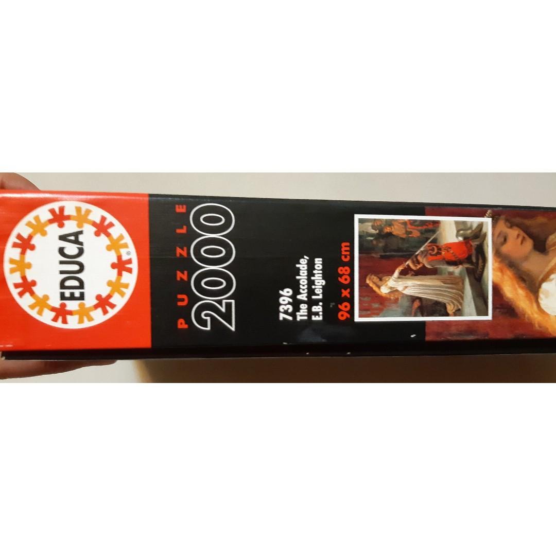 [雷諾瓦拚圖:加冕儀式 拼圖] 2000片/埃德蒙·布萊爾·雷頓:加冕儀式 /90%新 二手品