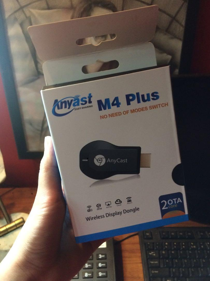 Anycast M4 Plus Wireless Display Dongle 1080 HDMI on Carousell