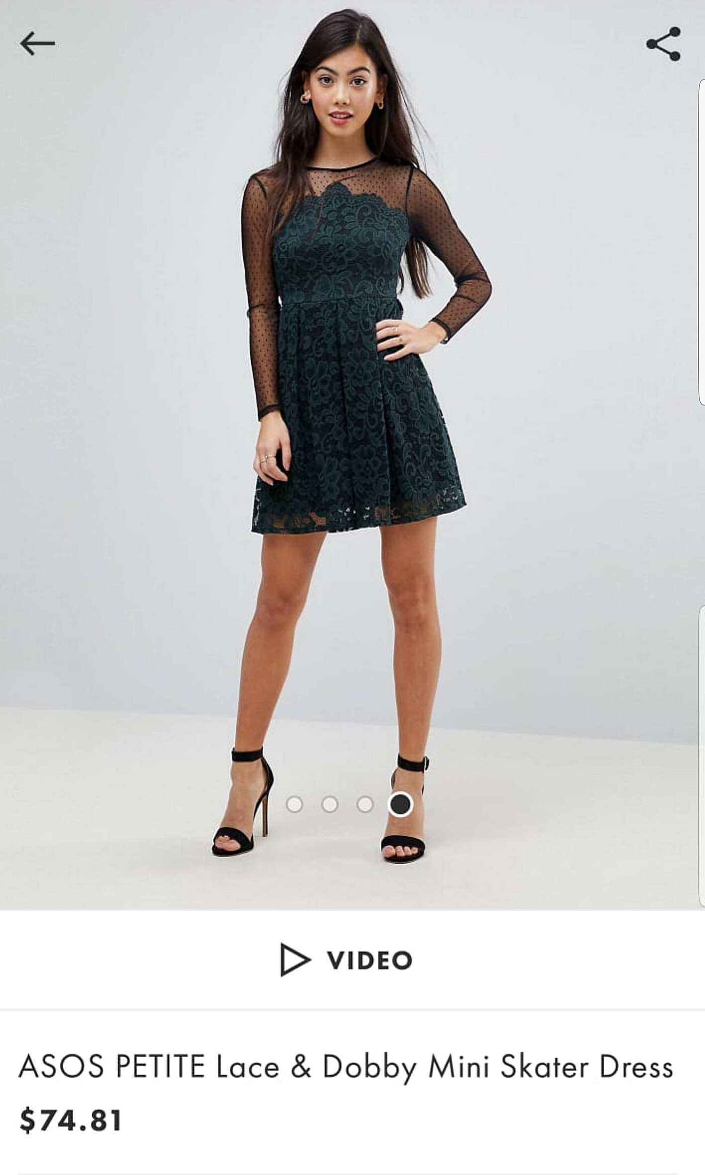 745661bc9aa Asos Petite Lace Skater Dress - Data Dynamic AG