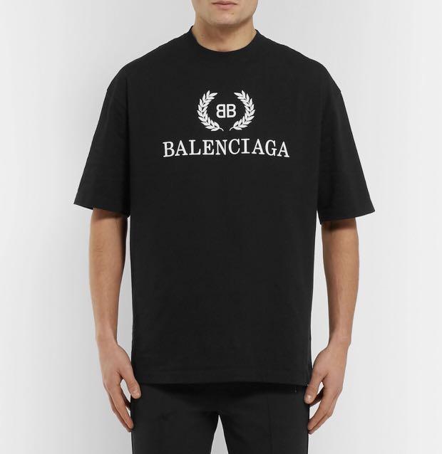 b127be82e Balenciaga BB Logo Tee Black on Carousell