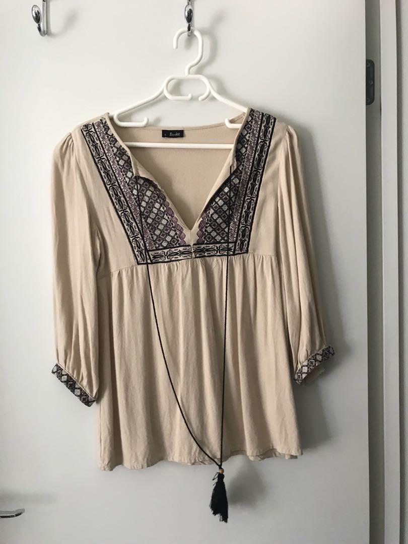 Bardot Boho Top
