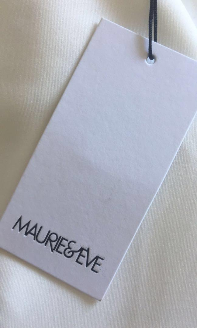 Brand New Maurie & Eve 'Attaboy' White Midi Formal Dress