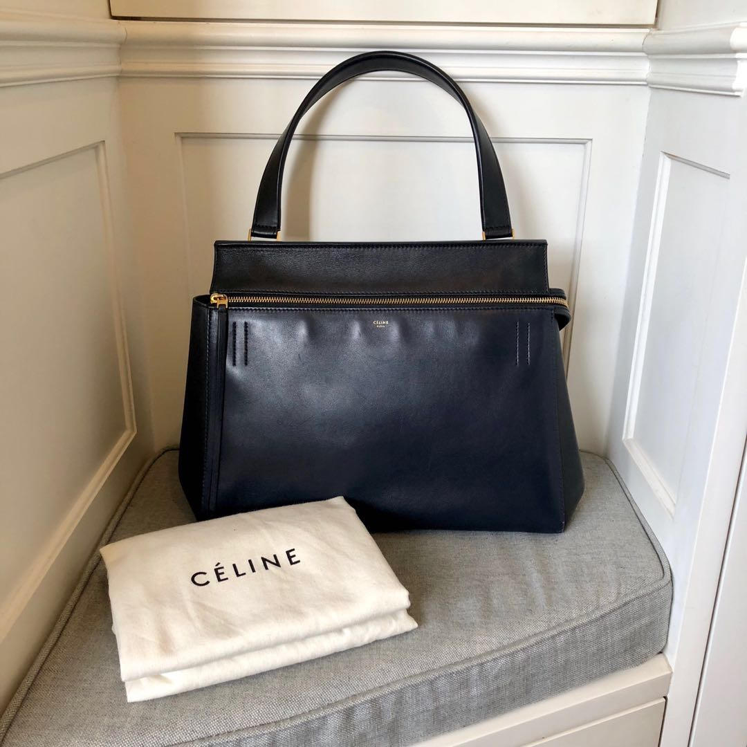 5299fbbeb61f Celine Medium Edge (Dark Navy Blue   Black)