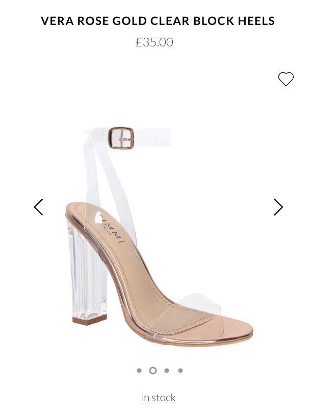 e5ddede297d Clear heel   Rose Gold