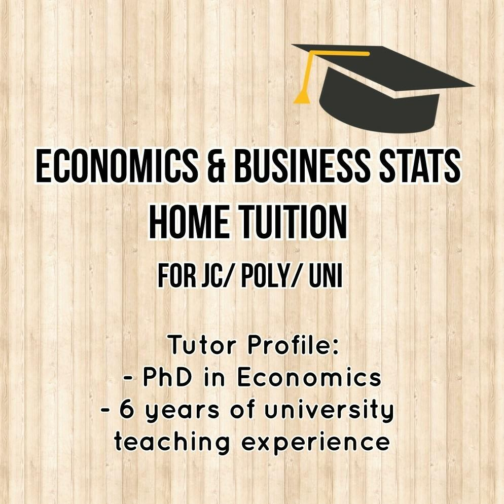 Econs/ Business Stats Home Tuition