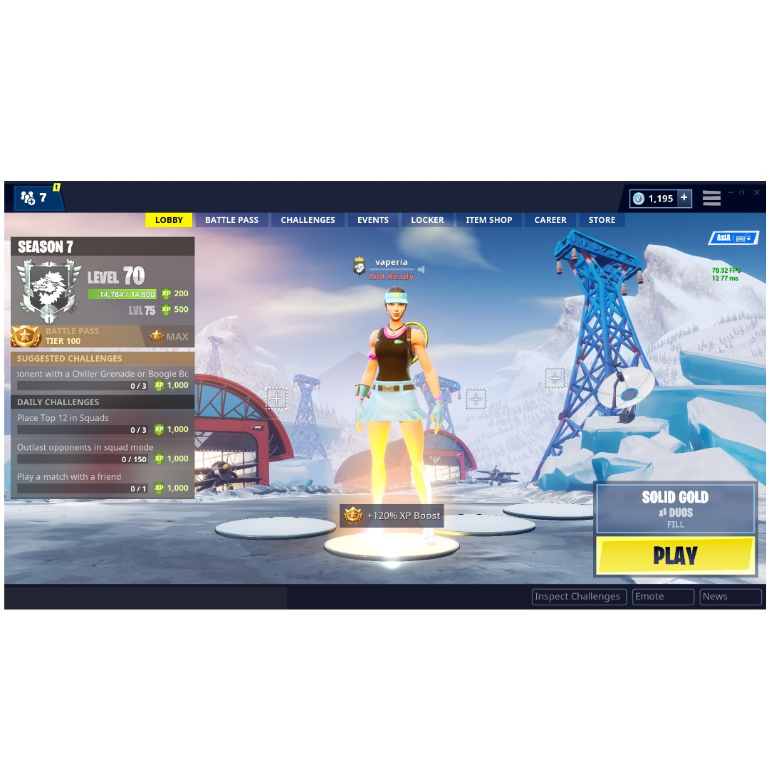 fortnite account with STW