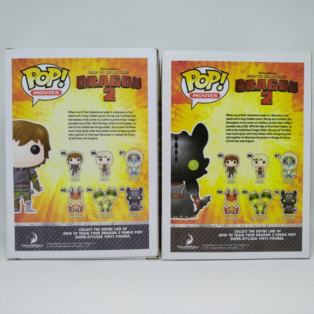 FUNKO POP! HOW TO TRAIN YOUR DRAGON 2 HICCUP & TOOTHLESS SET
