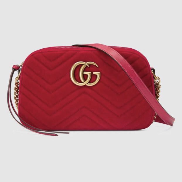 a151b47df Gucci GG Marmont velvet small shoulder bag, Luxury, Bags & Wallets ...