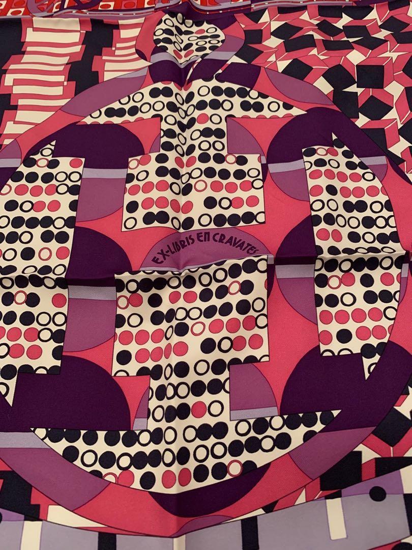 Hermes Ex-Libris en Cravates scarf 90