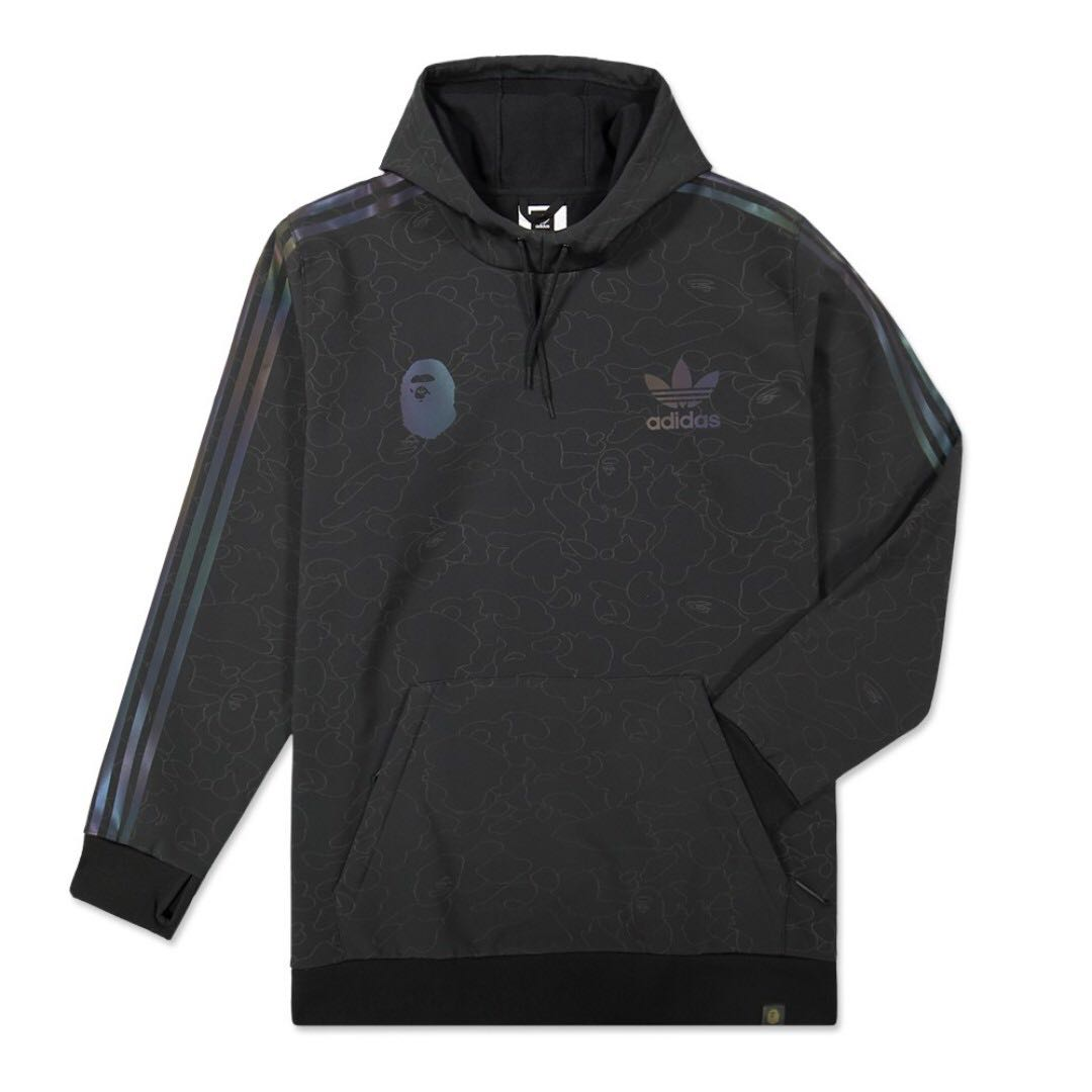 3d7b96d2cd1d 💯 IN STOCK  Bape X Adidas Tech Hoodie