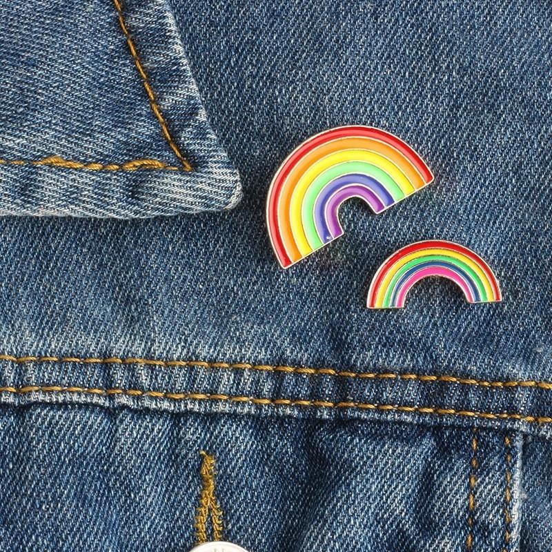 🌈 LGBT Rainbow Enamel Metal Pin Badge