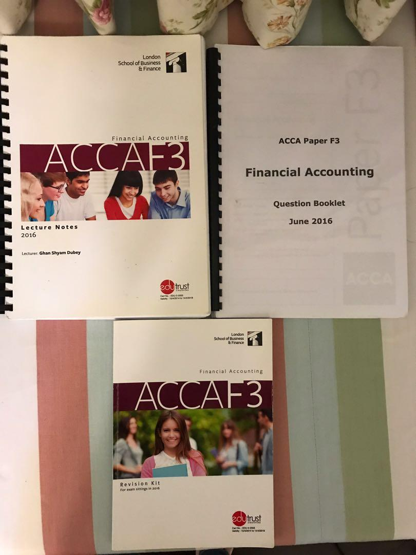 LSBF ACCA F3 Financial Accounting, Books & Stationery