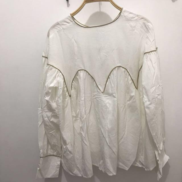 New *女波浪束袖襯衣