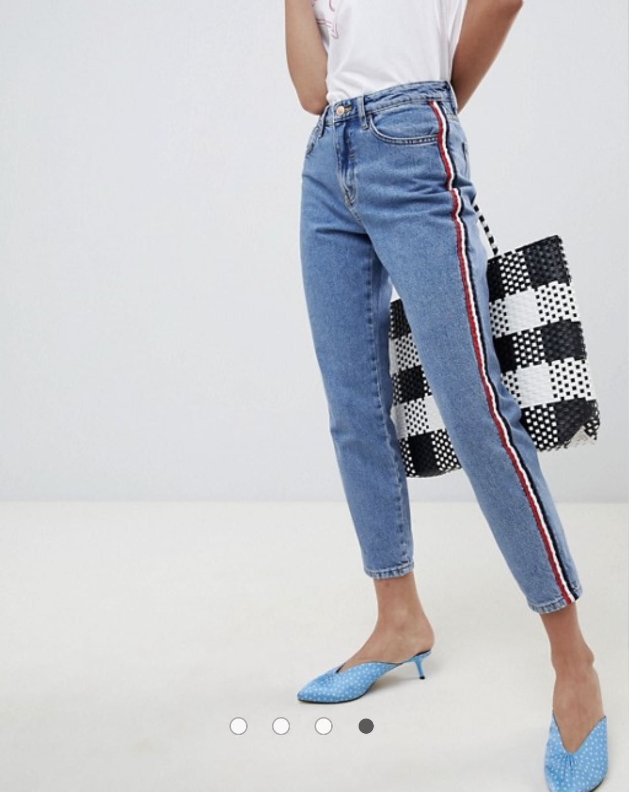 fc3ef48a05bd8 New Look Side Stripe Mom Jeans