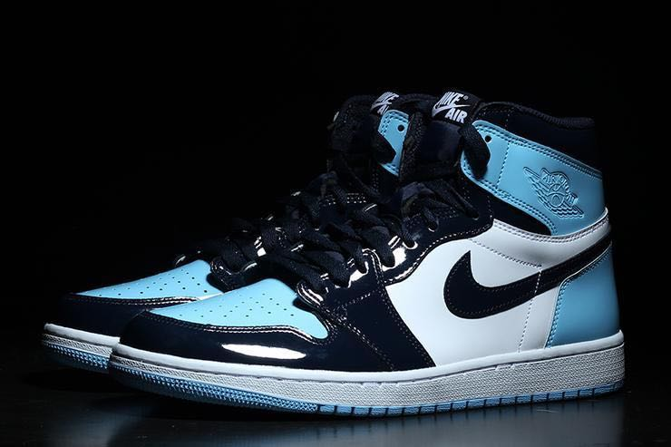 271c4f6e60c371 Nike Air Jordan 1 UNC Patent Leather