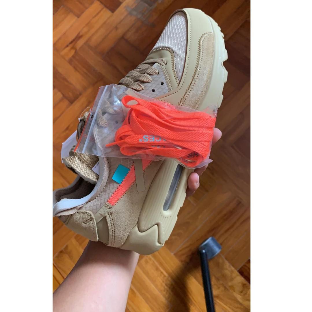 Nike Air Max 90 Off White Desert Ore Women S Fashion Shoes