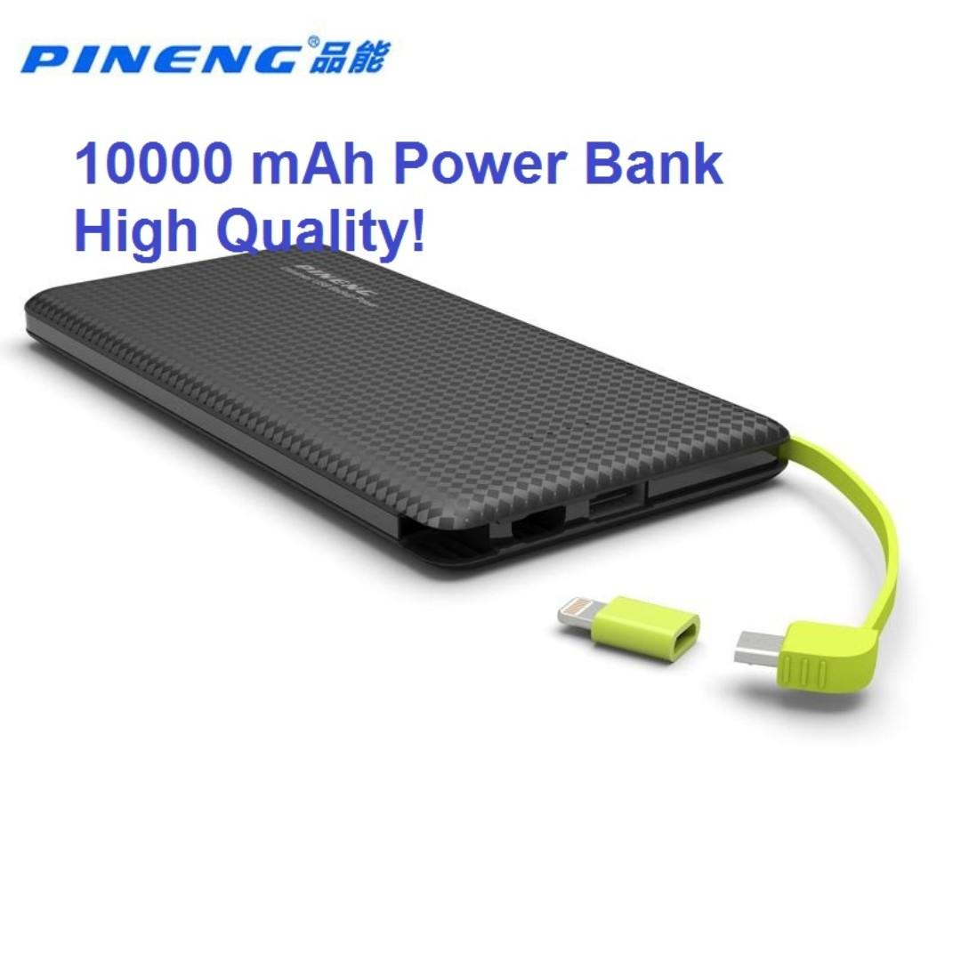Original Pineng Power Bank 10000mAh External Battery Pn-951 Portable Mobile Fast Charger Dual USB for iPhone Samsung LG Xiaomi