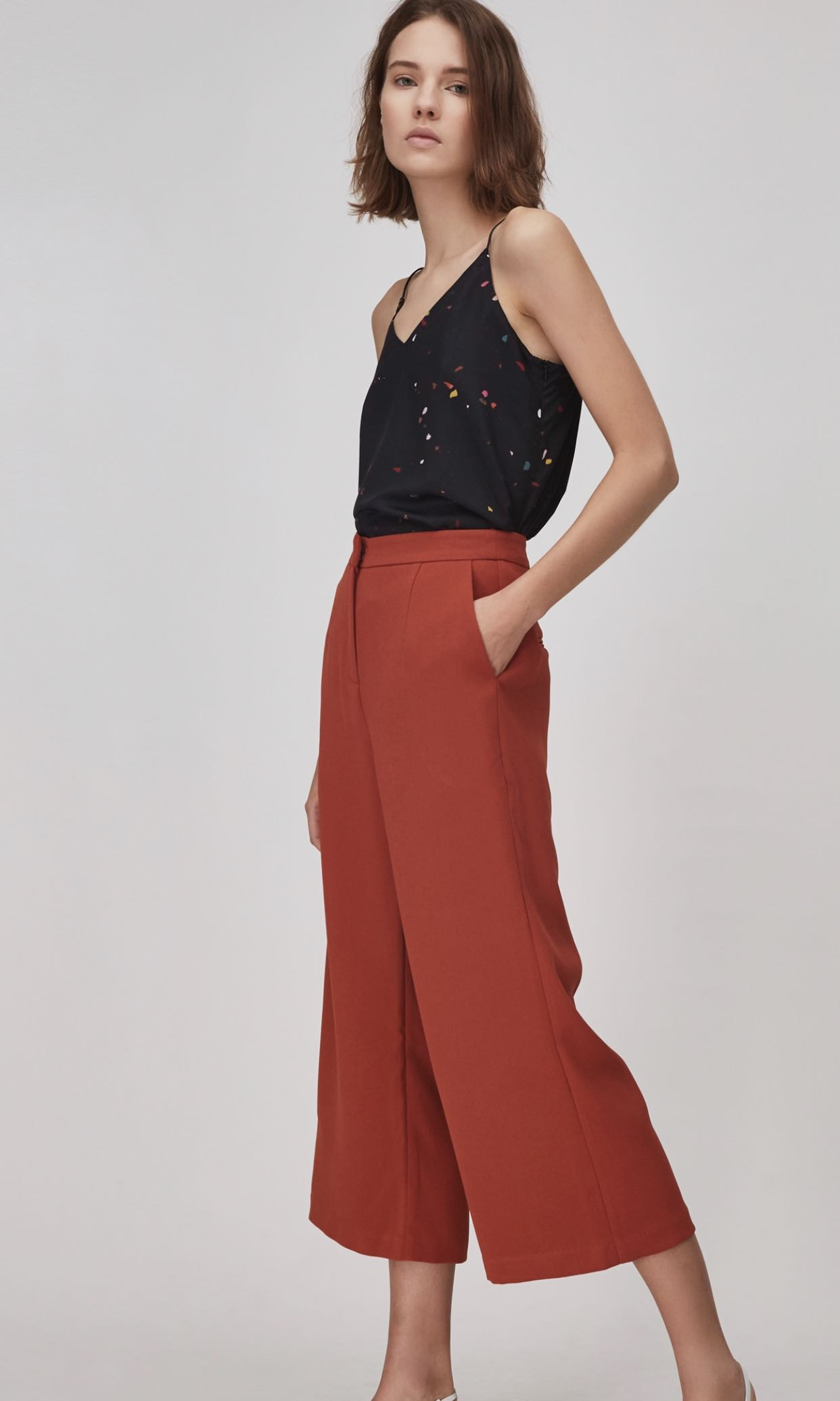 c241fecf Our second nature crepe high waisted pants L