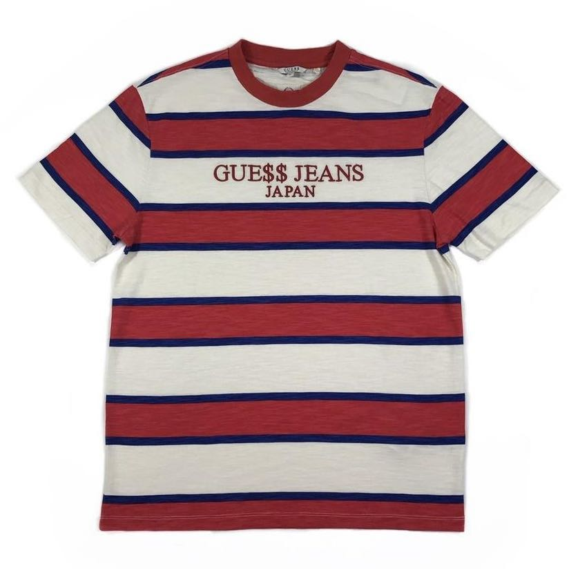 8292606448c2 PO] Guess Jeans x ASAP Rocky Japan Edition Striped Tee, Men's ...