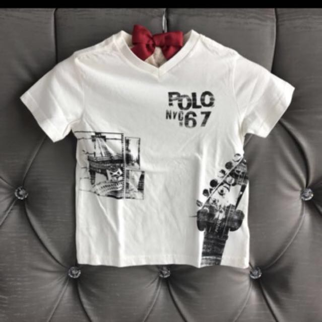 "For Ralph Shirt V Lauren Boy Neck Tee ""polo 1967"" Polo 3t Nyc Toddler TcuKJlF13"