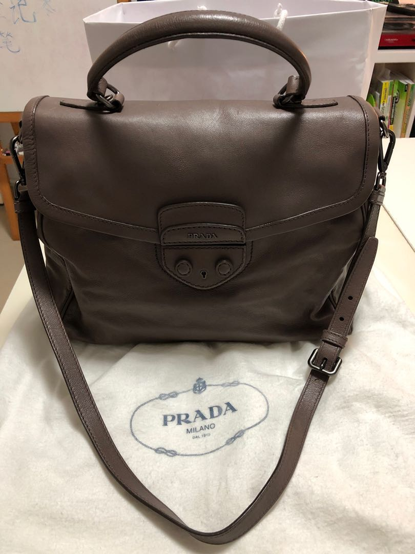 5979a68849a747 Prada leather bag, Luxury, Bags & Wallets, Sling Bags on Carousell