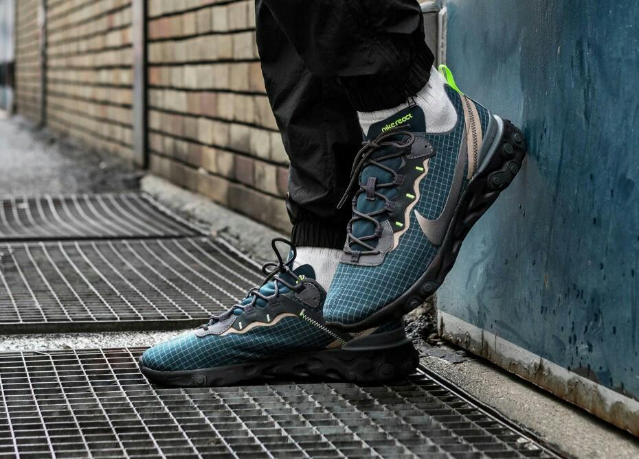 many styles new high buy best PREORDER] NIKE REACT ELEMENT 55 GREEN GRID / ARMORY NAVY ...