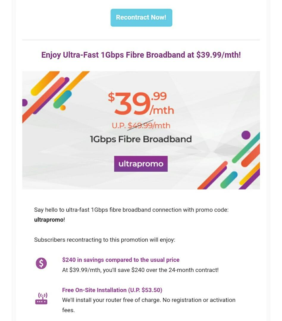 RECONTRACT MyRepublic Fibre Broadband, Mobile Phones