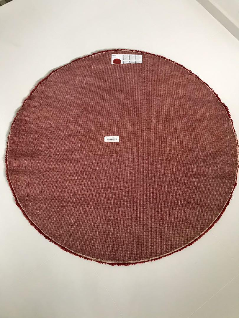 Red Round Rug From Ikea Furniture