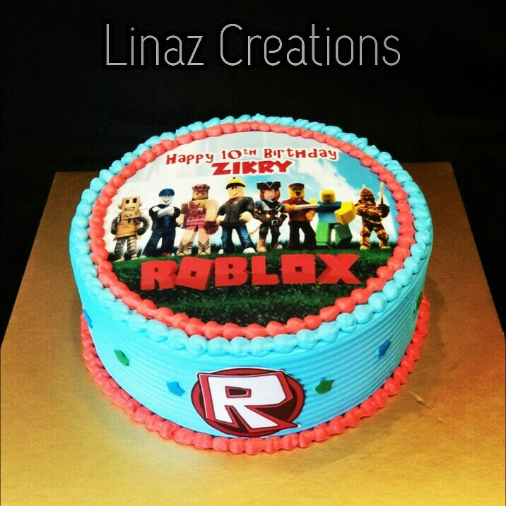 Roblox Birthday Cake Need A Customised Cakes Contact Us