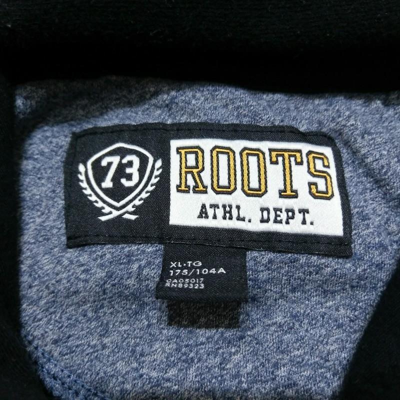 Roots連帽外套黑色男XL號