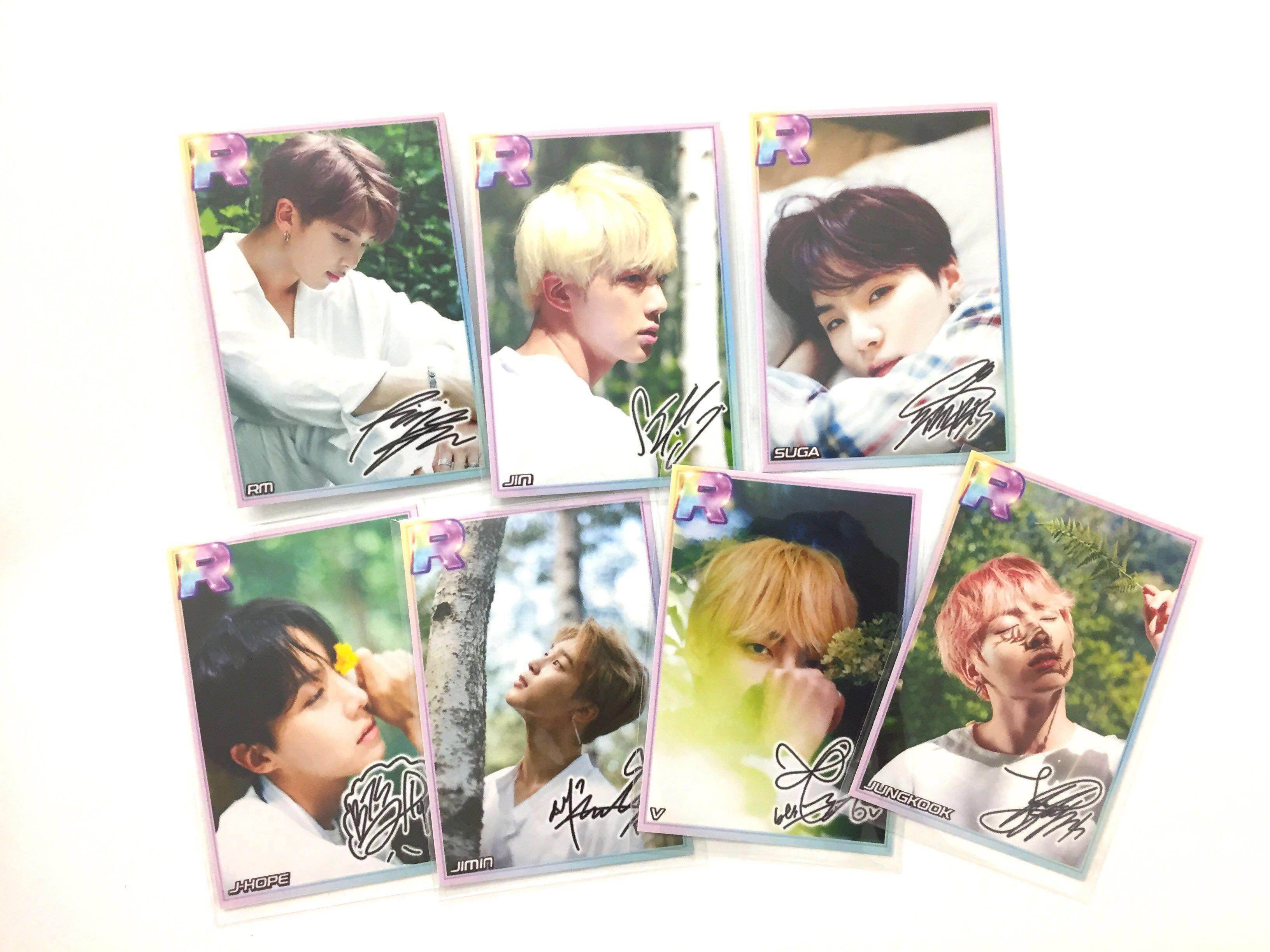 Superstar BTS R Card Frame Season's Greeting Theme