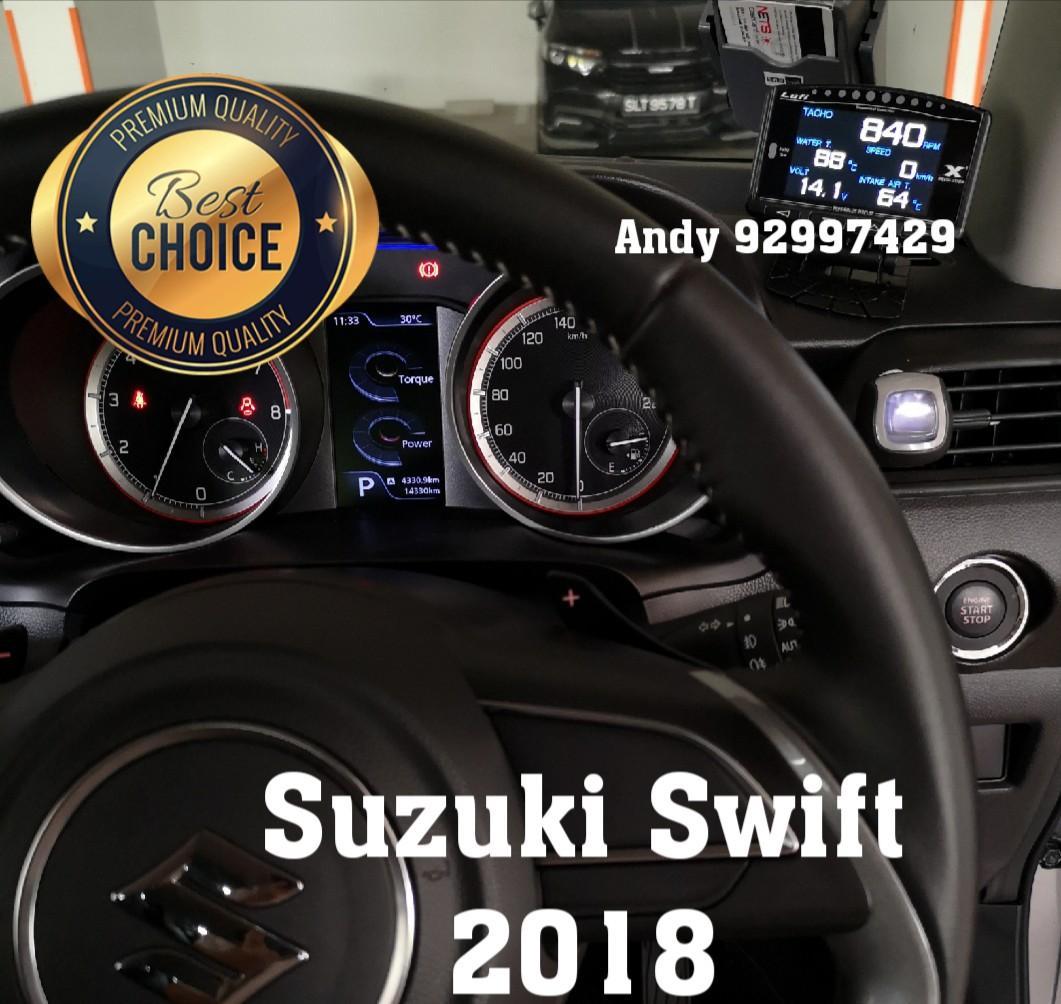 Suzuki Swift 2018 Lufi X1 Revolution OBD OBD2 Gauge Meter