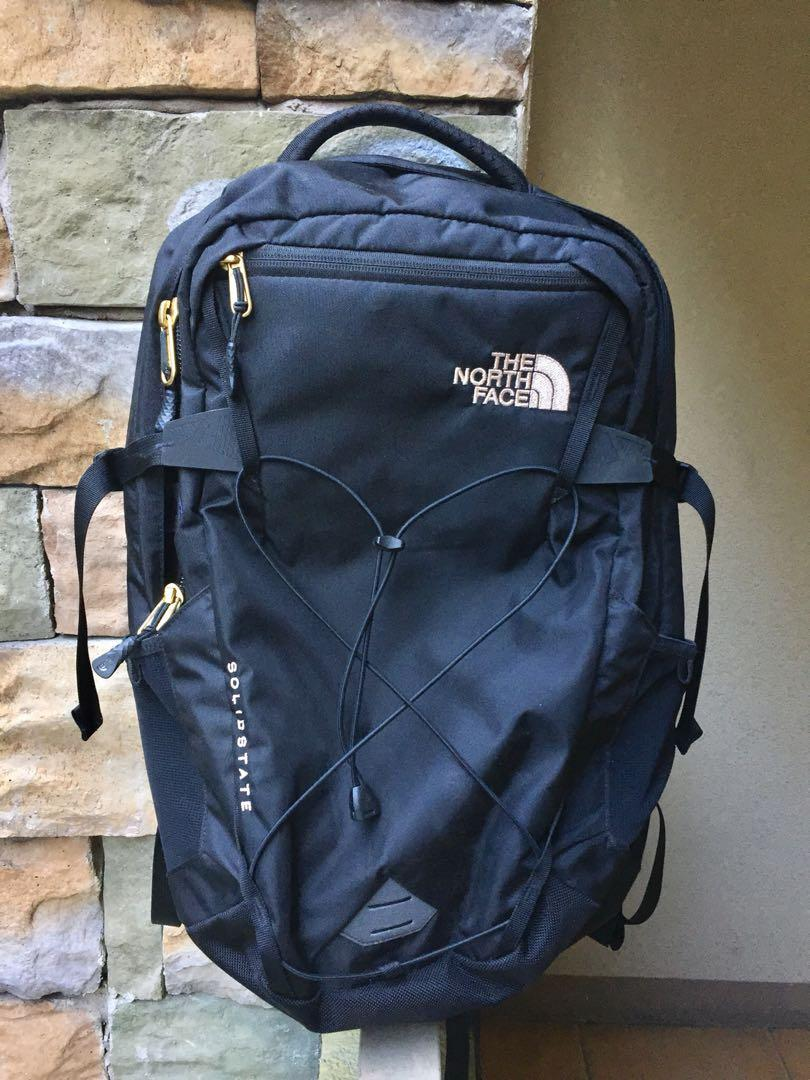 9164f07bb The North Face Solid State Backpack (Black/Rose Gold) on Carousell