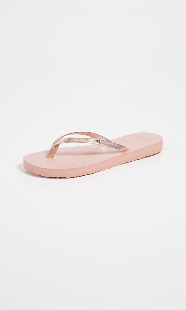 2e32787a8f5a Tory Burch Rose Gold Flip Flops