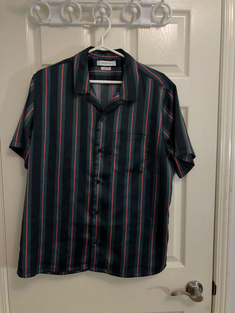 Urban Outfitters - Green/Black/Red Oversize Polo Shirt