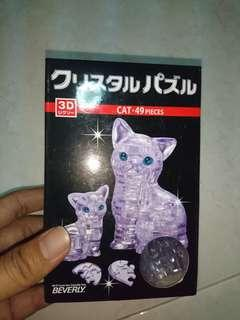 3D Crystal Cat Puzzle
