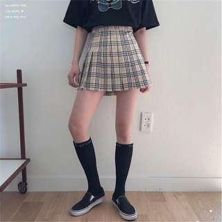 🚚 格紋百褶裙