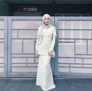 Poplook Mint Green Modern Kurung